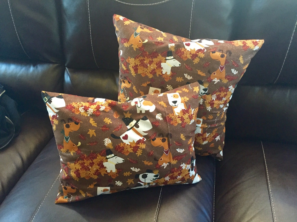 DIY Pillow Covers Round 2