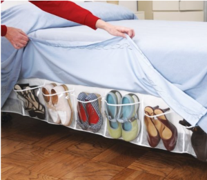 Bed Skirt Shoe Organizer